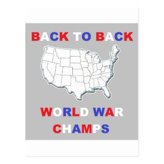 De nuevo a campeones traseros de la guerra mundial postal