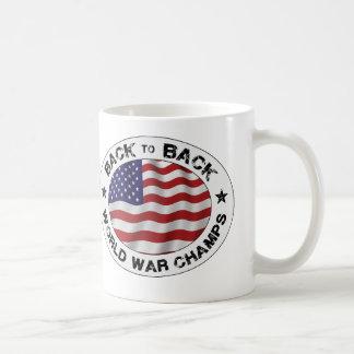 De nuevo a campeones traseros de la guerra mundial taza de café