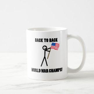 De nuevo a campeones traseros de la guerra mundial taza