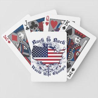De nuevo a campeones traseros del mundo baraja cartas de poker