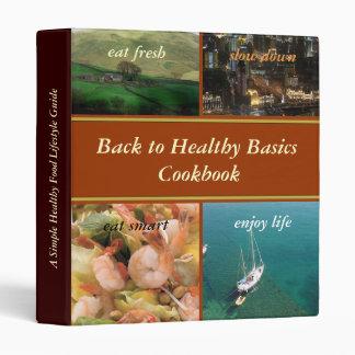 De nuevo a carpeta sana del libro de cocina de los