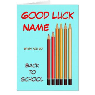 De nuevo a deseos de la escuela tarjeta de felicitación
