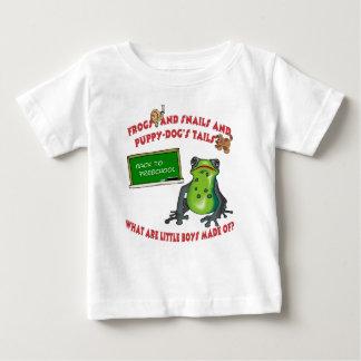 De nuevo a diseño preescolar apenas para los niños tee shirt