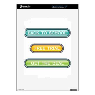 De nuevo a ensayo libre de la escuela consiga los calcomanías para el iPad 2