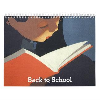 ¡De nuevo a escuela calendario de 18 meses,