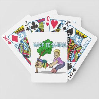 De nuevo a escuela baraja de cartas