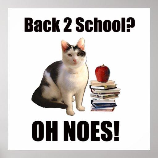 ¿De nuevo a escuela? OH NO Póster