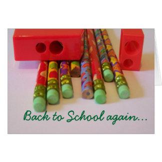 De nuevo a escuela otra vez… tarjeta