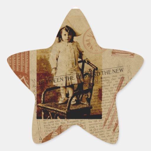 De nuevo a escuela pegatina en forma de estrella