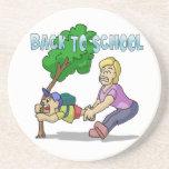 De nuevo a escuela posavasos diseño