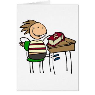 De nuevo a escuela - tarjeta
