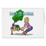 De nuevo a escuela tarjetas