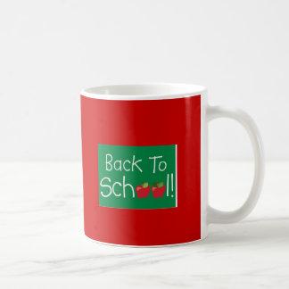 De nuevo a escuela tazas