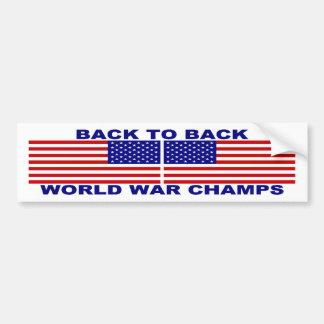 De nuevo a guerra mundial trasera defiende a la pe pegatina de parachoque