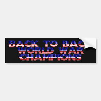 De nuevo a guerra mundial trasera defiende a la pe etiqueta de parachoque