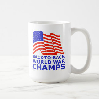 De nuevo a guerra mundial trasera defiende la taza