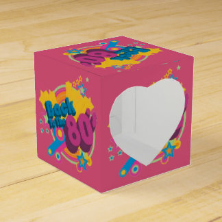 De nuevo a la caja retra del favor del corazón de cajas para regalos