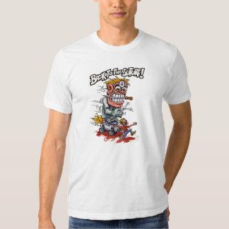 De nuevo a la camiseta del blanco de la sutura playera