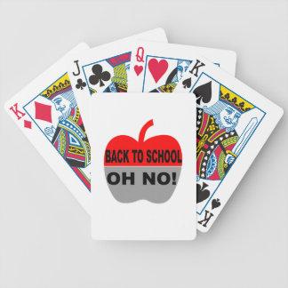 De nuevo a la escuela oh ninguna cartas de juego