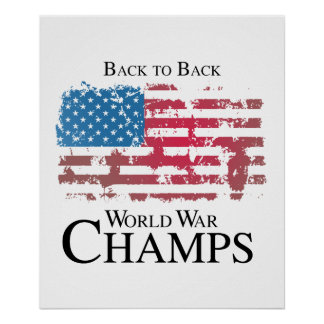 De nuevo a la guerra mundial trasera champs.png posters