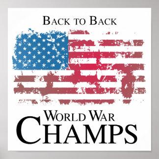 De nuevo a la guerra mundial trasera champs.png póster