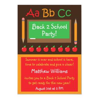 De nuevo a la invitación del fiesta de la escuela