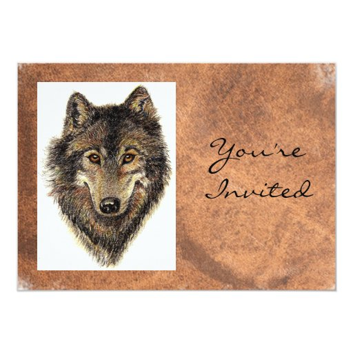 De nuevo a la naturaleza, el lobo, el cumpleaños invitaciones personales