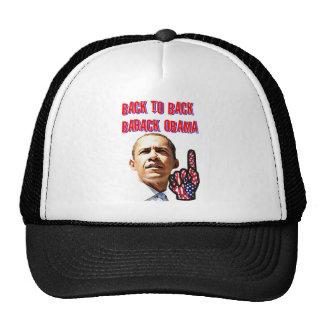 De nuevo a la parte posterior presidente Barack O Gorros Bordados
