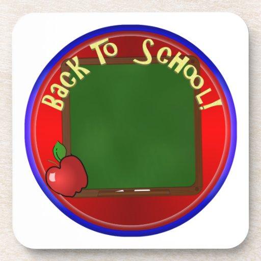 De nuevo a la pizarra de la escuela - añada el posavaso