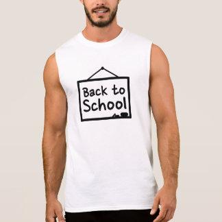 De nuevo a la pizarra de la escuela camisetas sin mangas