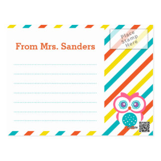 De nuevo a la postal del profesor de escuela - tem