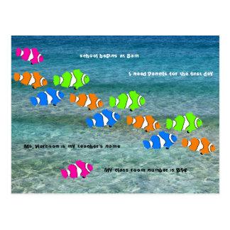 De nuevo a la recepción de los pescados del payaso tarjetas postales