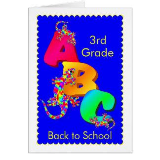 De nuevo a la tarjeta del estímulo de la escuela p