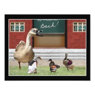 De nuevo a patos de la escuela en la escuela comunicados