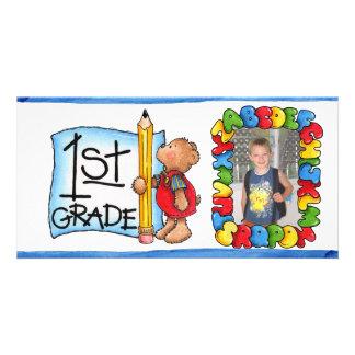 De nuevo a photocard de la escuela tarjetas con fotos personalizadas