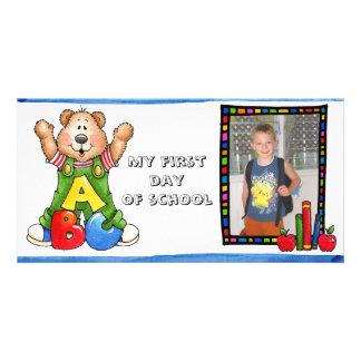 De nuevo a photocard de la escuela tarjetas personales con fotos