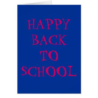 De nuevo a tarjeta de la escuela