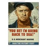 De nuevo a tarjeta del mar