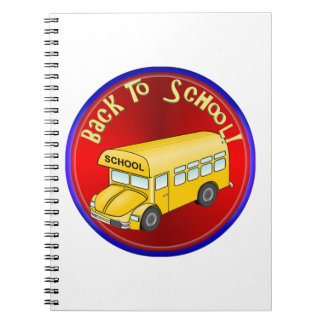 De nuevo al autobús escolar - diviértase libros de apuntes