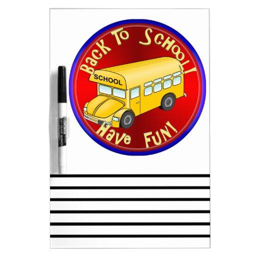 De nuevo al autobús escolar - diviértase tableros blancos