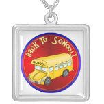 De nuevo al autobús escolar joyeria personalizada