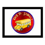 De nuevo al autobús escolar postal