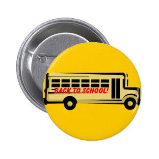 De nuevo al botón de la escuela pin redondo de 2 pulgadas