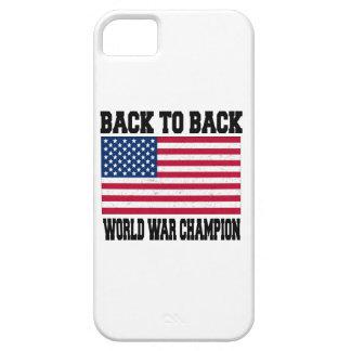 de nuevo al campeón trasero de la guerra mundial iPhone 5 Case-Mate cobertura