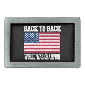 de nuevo al campeón trasero de la guerra mundial hebillas cinturon rectangulares