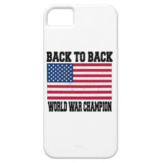 de nuevo al campeón trasero de la guerra mundial iPhone 5 fundas