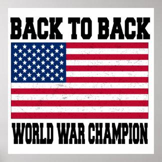 De nuevo al campeón trasero de la guerra mundial poster
