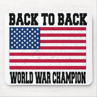 De nuevo al campeón trasero de la guerra mundial tapete de ratón