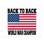 De nuevo al campeón trasero de la guerra mundial postales
