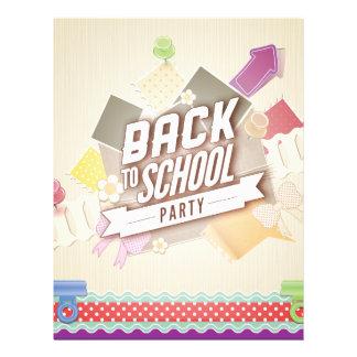 De nuevo al fiesta de la escuela flyer a todo color